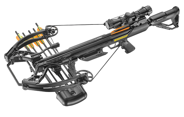 X-bow Ballistic 410 fps / 200 lbs, meest complete set op internet, 449,10 euro, met gratis verzending.