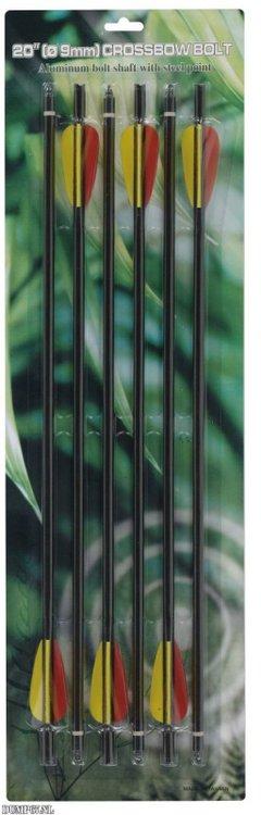 MK-AL20-BK Aluminium kruisboogpijl 20″ (6 stuks) 16,99 euro