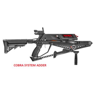 COBRA SYSTEM ADDER EK Archery, met een magazijn voor 5 pijlen.