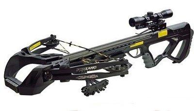 X-bow Guillotine – 400 fps / 185 lbs, meest complete set op internet, met gratis verzending.